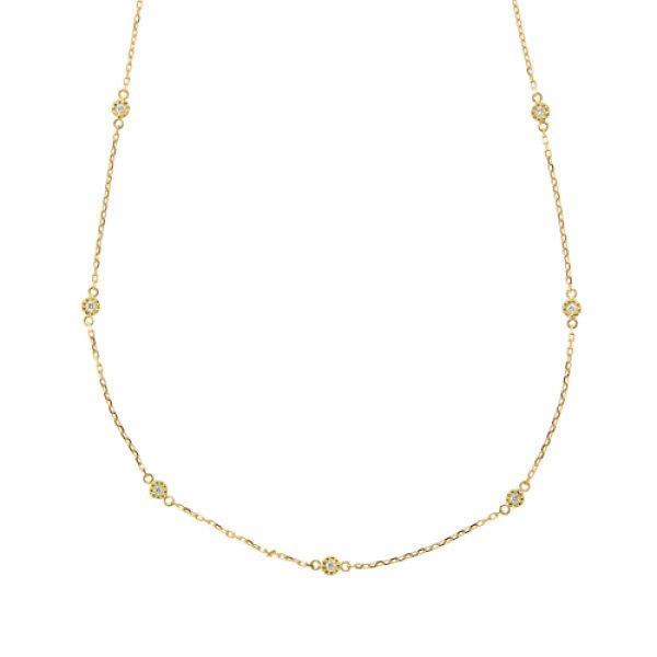 画像1: 【星空】星空のダイヤモンドネックレス K18YG