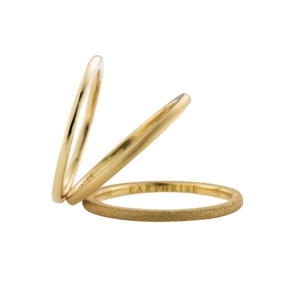 画像1: 【La foresta】 anello ピンキーリング SS K18イエローゴールド