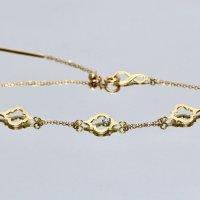 【ゼリージュ】モロッカン ダイヤモンド 3連モチーフ ブレスレット K18YG