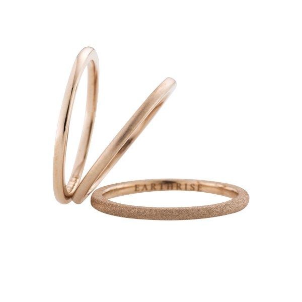 画像1: 【La foresta】 anello ピンキーリング SS K18ピンク(ローズプラチナ)ゴールド